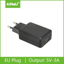 5V 3A EU pin charger for mobile phone, tablet, LED power adapter ANU-810XEU