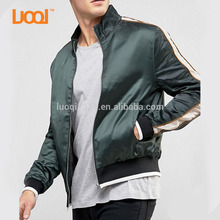 Wholesale Men Fashion High Quality Windproof Nylon Custom Metal Zip Bomber Varsity Jacket Wear