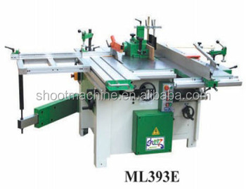 Combine Woodworking Machine ML393E with 6 functions and 350mm planer and 1700mm planer length
