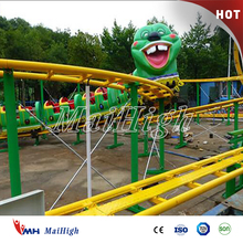 Low price guaranteed quality big green insect amusement worm sliding train roller coaster games for kids