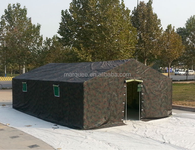 Military camping camouflage canvas army tent 5x10m