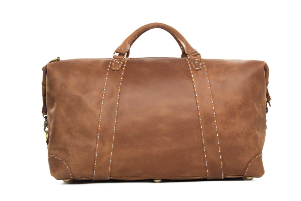 2016 Antique Custom Wholesale Top Grain Genuine Leather MensTravel Duffle Bag Holdall Luggage for Overnight Weekender   (5).jpg