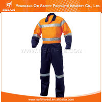 China supplier workwear 80% polyester reflective construction workwear for painters