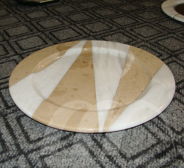 Plates Two Tone Marble
