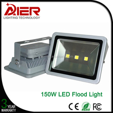 High power 150 watt led flood light with 3pcs integrated led