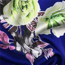 50D PRINTED SHINY SATIN CHIFFON FABRIC