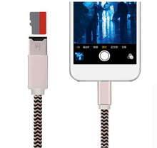 Micro Memory SD/TF Card Reader for iphone and ipad with iphone charger