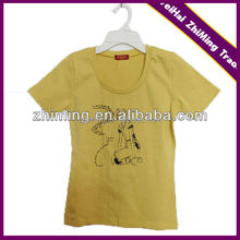 children new design round neck printing T-shirt with varied colors and sizes