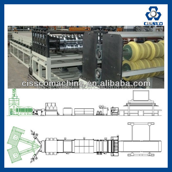 PC PROFILE PRODUCTION LINE (FLAT&WAVE - HOLLOW&SOLID) - HORIZONTAL, LONGITUDINAL, DIAGONAL AND THICKNESS TOLERANCE +/- 0.03MM
