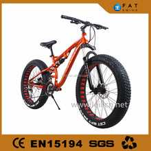 "24 Speeds 26x4.0"" full suspension Fat Tire Snow Mountain Bike 26 Beach Bike Fat Bikes"