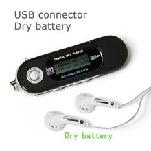 Portable mp3 player sd card aaa battery