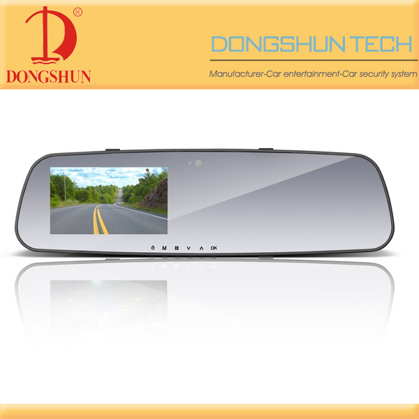 "HD 720P 4.3"" TFT LCD Car DVR rearview mirror camcorder"