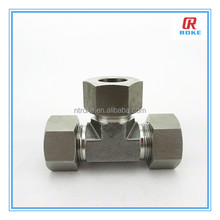 SS316 3 way male pipe fittings tee union hexagon connector