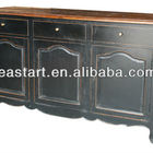 French style furniture antique black buffet