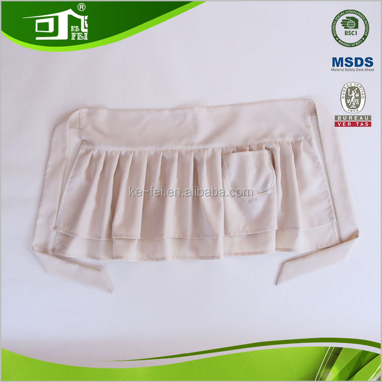Wide Tie Pleated Bottom Bar Maid Restaurant Uniform for Beauty