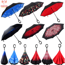 2017 Hot New Products Full Body Reverse Umbrella For Sale With C Handle Reverse Umbrella Inverted Umbrella
