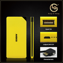 New arrival fashion design OEM 8000mah channel power bank for macbook pro / ipad mini / gionee mobile phone