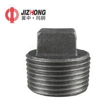 Wholesale black male threaded malleable iron pipe fitting hex plugs