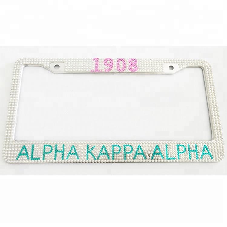 metal rhinestone AKA license plate frame, View license plate frame ...