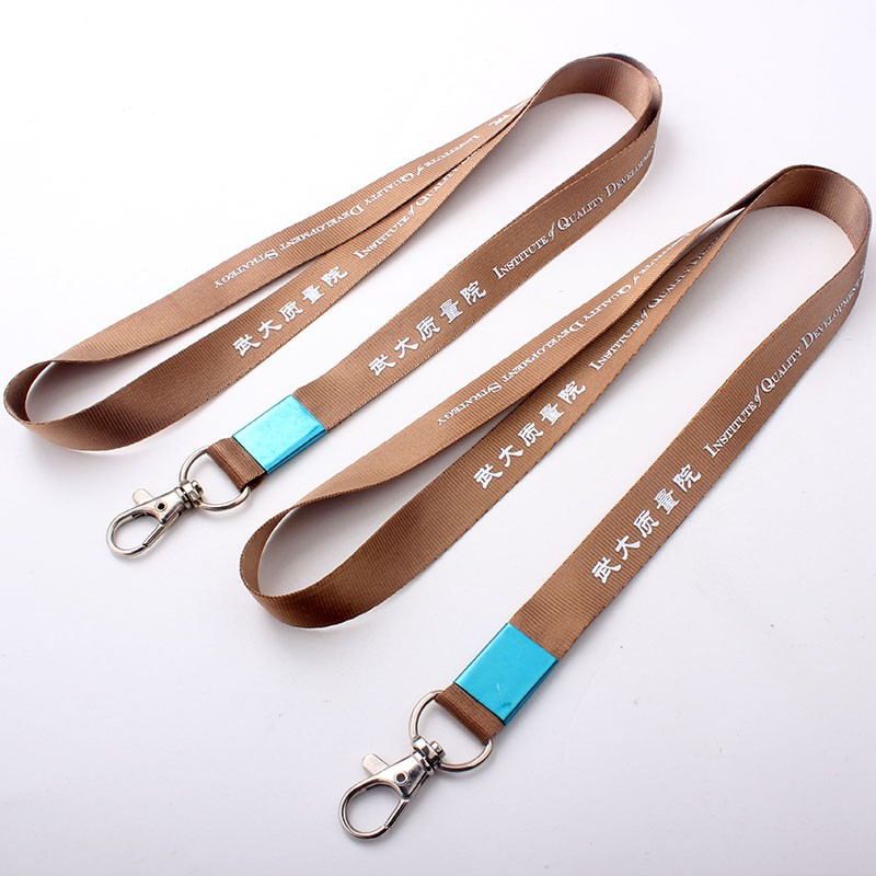 No minimum order custom silk nylon unique logo lanyard with Authentication