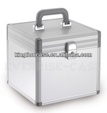 portable silver plastic cd carry case KL-CD014