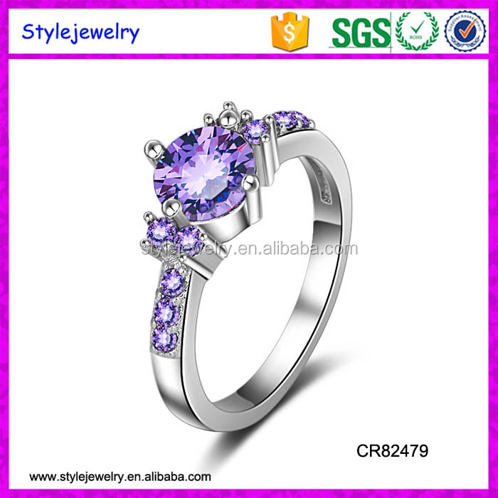 CR82479 wholesale retail new design fashion women engagement ring white gold <strong>diamond</strong>