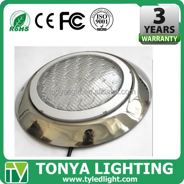 2017 high quality rgb led undrwater light 304 stainless steel ip68 swimming pool flashing light