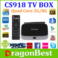 Kodi fully loaded MK888 Q7 CS918 Android 4.4 TV Box RK3188 2GB/8GB Quad Core Mini PC Smart TV Media Player CS918