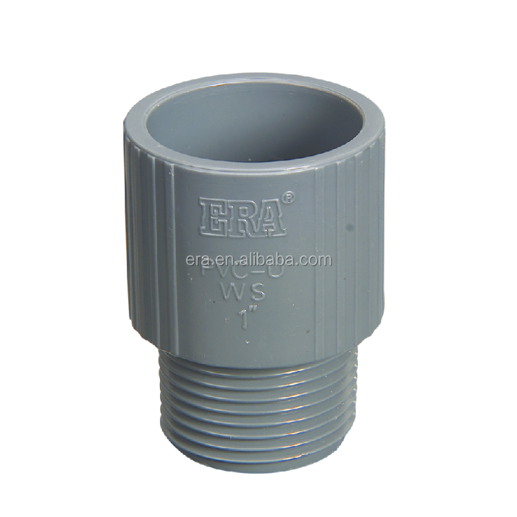"ERA PVC SCH40 Pipe Fittings Male Thread Adaptor, 1/2""-6"", NSF Certificate for USA market"