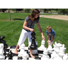 Outdoor Game Garden Giant Chess Set With Chess Mat