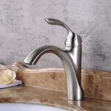 Brass material bathroom water tap single hole basin mixer tap