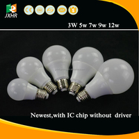 2016 newest CE 5W 7W 9w 12W e27 led light bulb with IC chip without driver, 3000 lumen led bulb light,smart led light bulb