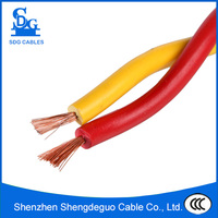 Red&yellow twisted core flexible copper conductor RVS electrical wire
