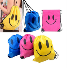 Cheap Face Drawstring Bag School bags Cartoon Kids Backpack
