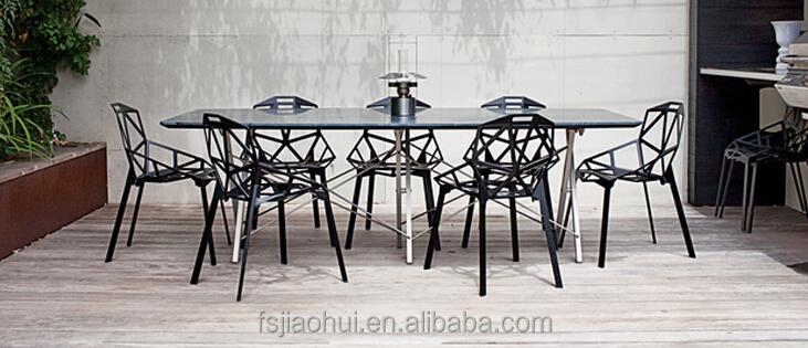 moderno restaurante magis silla uno metal de aluminio silla de comedor sillas de restaurante. Black Bedroom Furniture Sets. Home Design Ideas