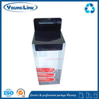 clear plastic pet pvc pp folding box