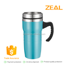 Zeal easy drink for 450ml Eco friendly custom coffee mug