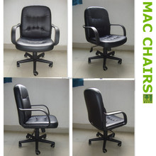 Medium Back PU /Geniune Leather / Split Cow Leather Uphostery Office Chair Silla de cuero 2012-A