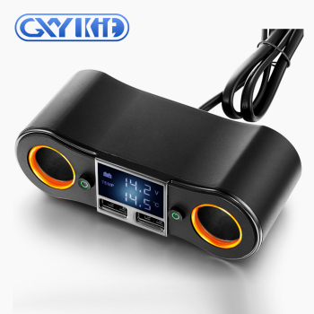 GXYKIT ZNB02 5v 2.5A dual port car charger with cigarette lighter plug in car accessoriess charger for cellphone tablet