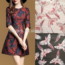 Birds Europe design fancy jacquard brocade jacquard fabric