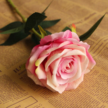 wedding decoration flower single stem silk velvet rose flower
