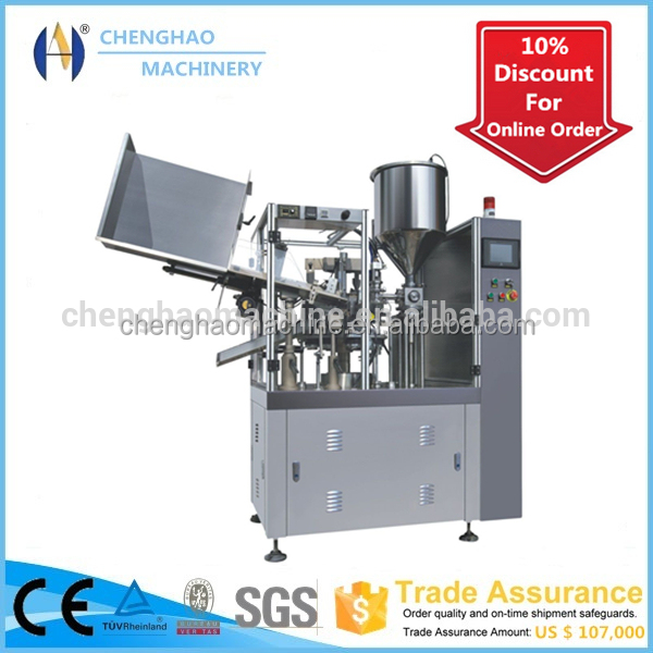 cosmetics plastic tube sealing and cutting machine