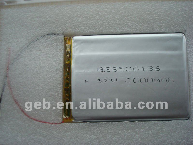 Rechargeable Lithium Polymer 3.7v3000mah battery