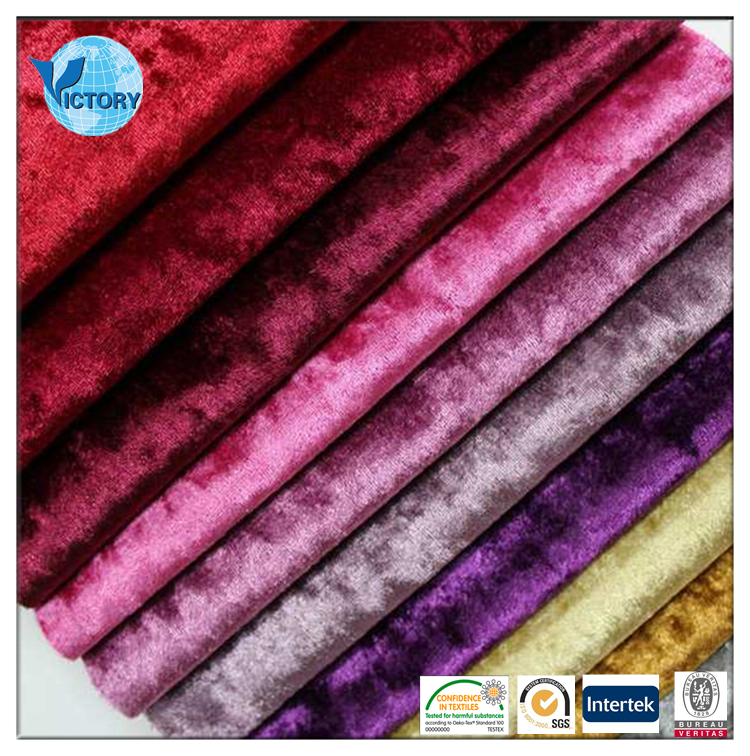 92% Polyester 8% Spandex Chair Covers Wholesale Fabric Warp Korea Velvet Fabric