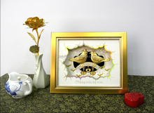 Hot sale Fly side by side gold foil photo frame for home decoration