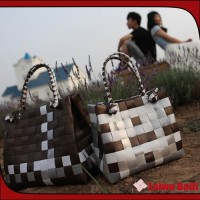 100% Handmade woven woman pattern shoulder bag