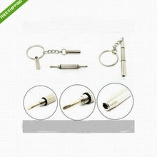 High Quality 1Pcs 3in1 Screwdriver Precision Watch Eyeglass Repair Tool with Keychain