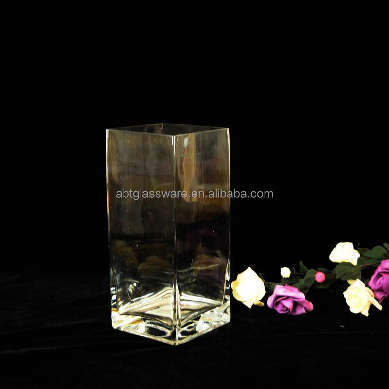 Handmade High Quality transparent tube tall vase for wedding centerpiece