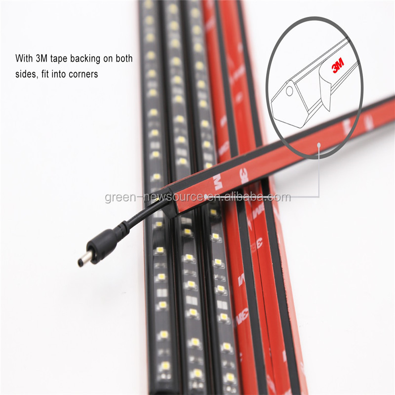 ultra-slim triangular shape & clear PC lens 12V DC under cabinet LED light bar 12inch 300mm+ 3M adhesive tape at back