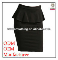 2016 Hot Sale New Fashion Apparel Manufacturer Black Color Sexy Tight Mini Skirt